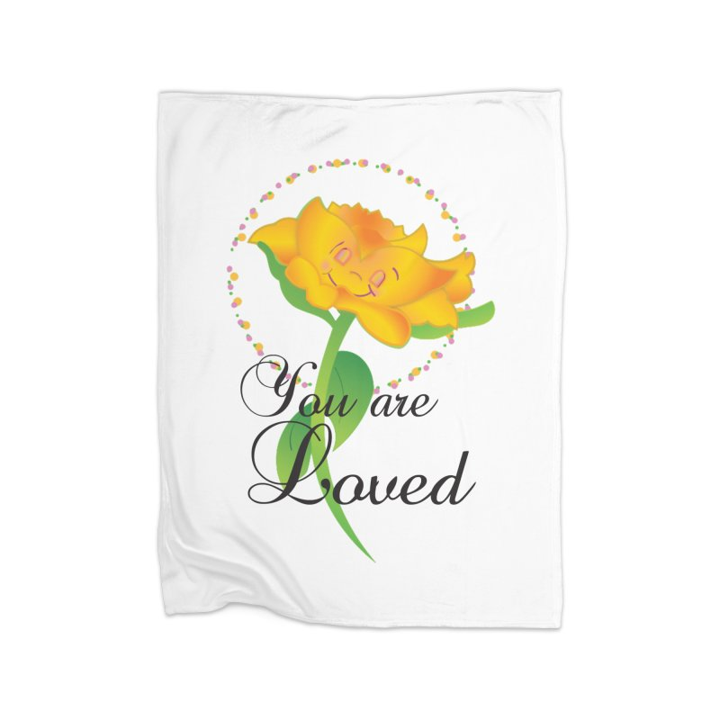 You are Loved Home Fleece Blanket Blanket by MyInspirationalGifts Artist Shop