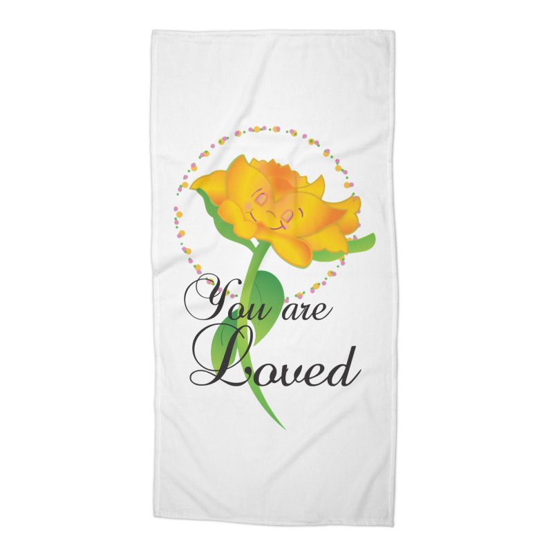 You are Loved Accessories Beach Towel by MyInspirationalGifts Artist Shop