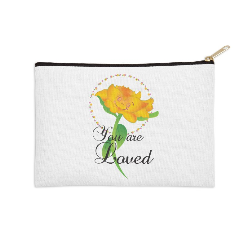 You are Loved Accessories Zip Pouch by MyInspirationalGifts Artist Shop