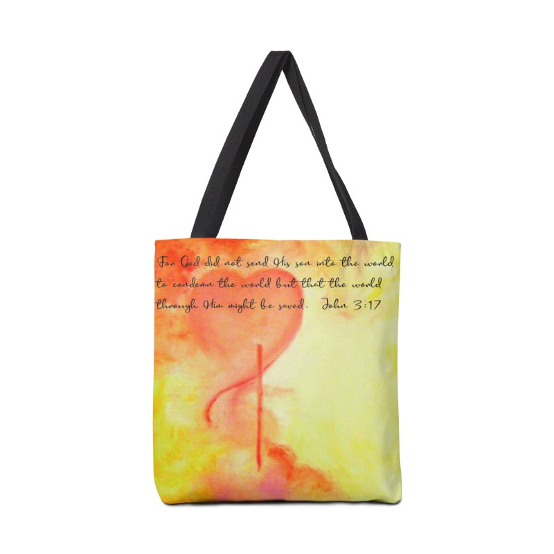 John 3:17 Loved Accessories Tote Bag Bag by MyInspirationalGifts Artist Shop