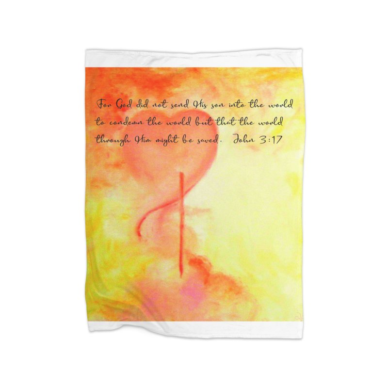 John 3:17 Loved Home Fleece Blanket Blanket by MyInspirationalGifts Artist Shop