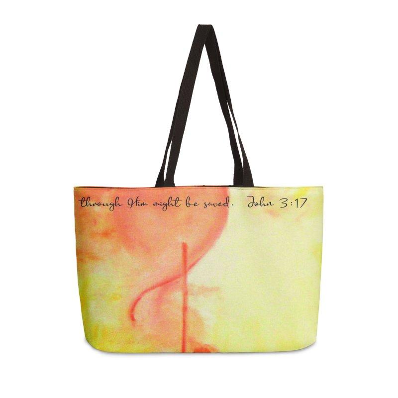 John 3:17 Loved Accessories Weekender Bag Bag by MyInspirationalGifts Artist Shop