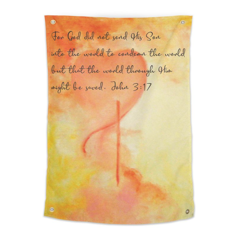 John 3:17 Loved Home Tapestry by MyInspirationalGifts Artist Shop