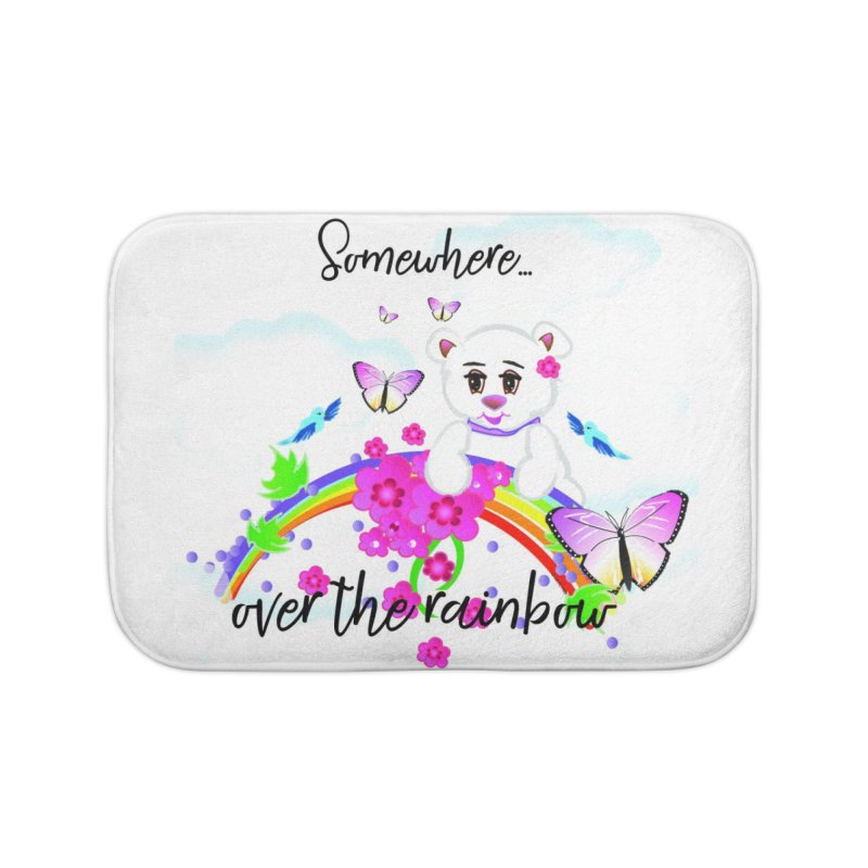 Over the Rainbow Home Bath Mat by MyInspirationalGifts Artist Shop