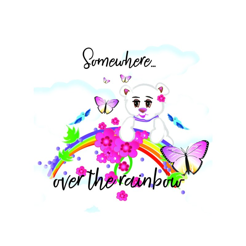 Over the Rainbow Accessories Beach Towel by MyInspirationalGifts Artist Shop