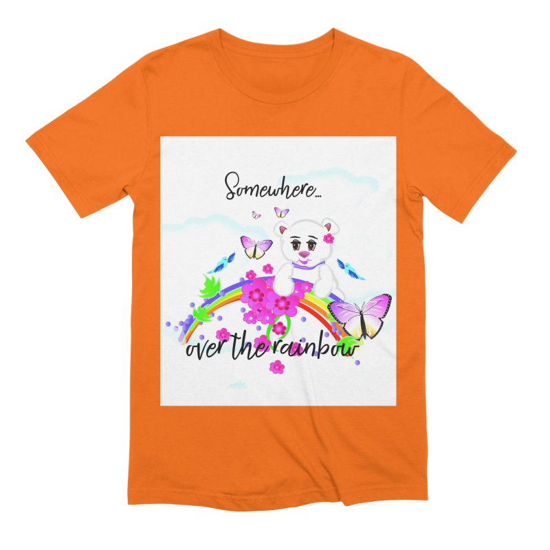 Over the Rainbow Men's Extra Soft T-Shirt by MyInspirationalGifts Artist Shop