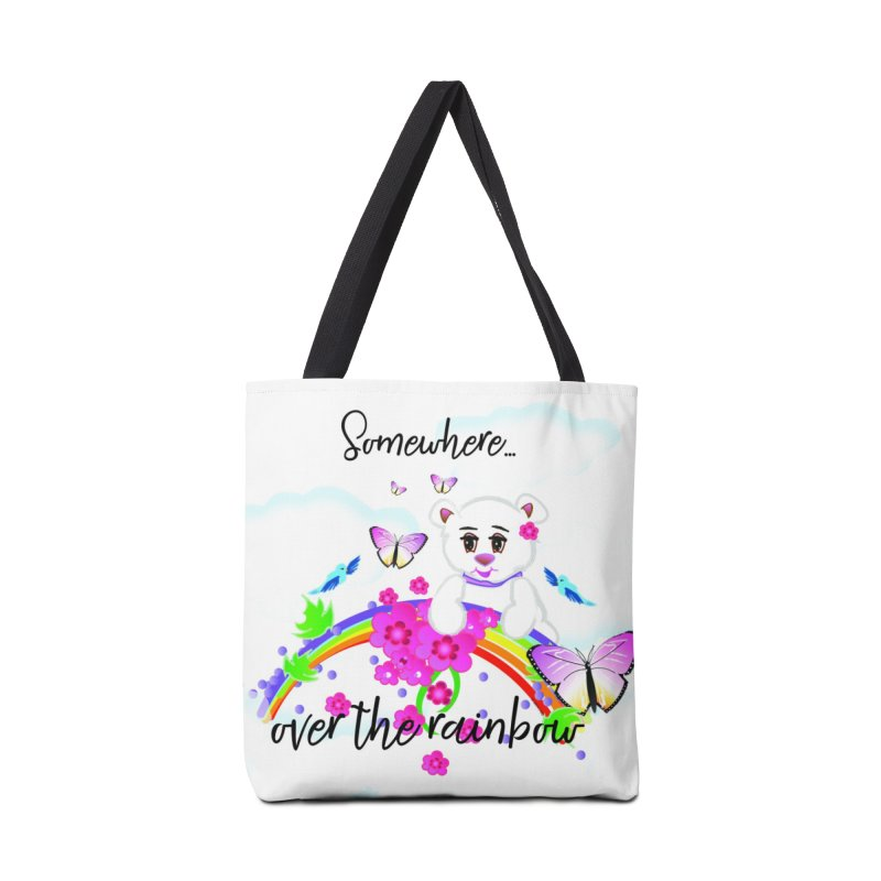 Over the Rainbow Accessories Tote Bag Bag by MyInspirationalGifts Artist Shop