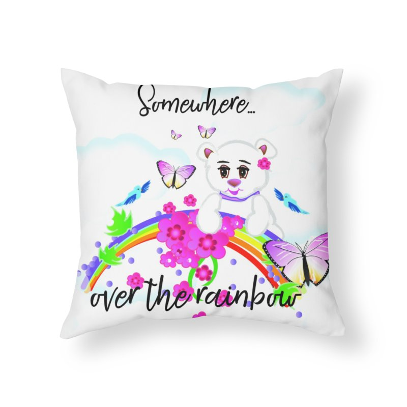 Over the Rainbow Home Throw Pillow by MyInspirationalGifts Artist Shop