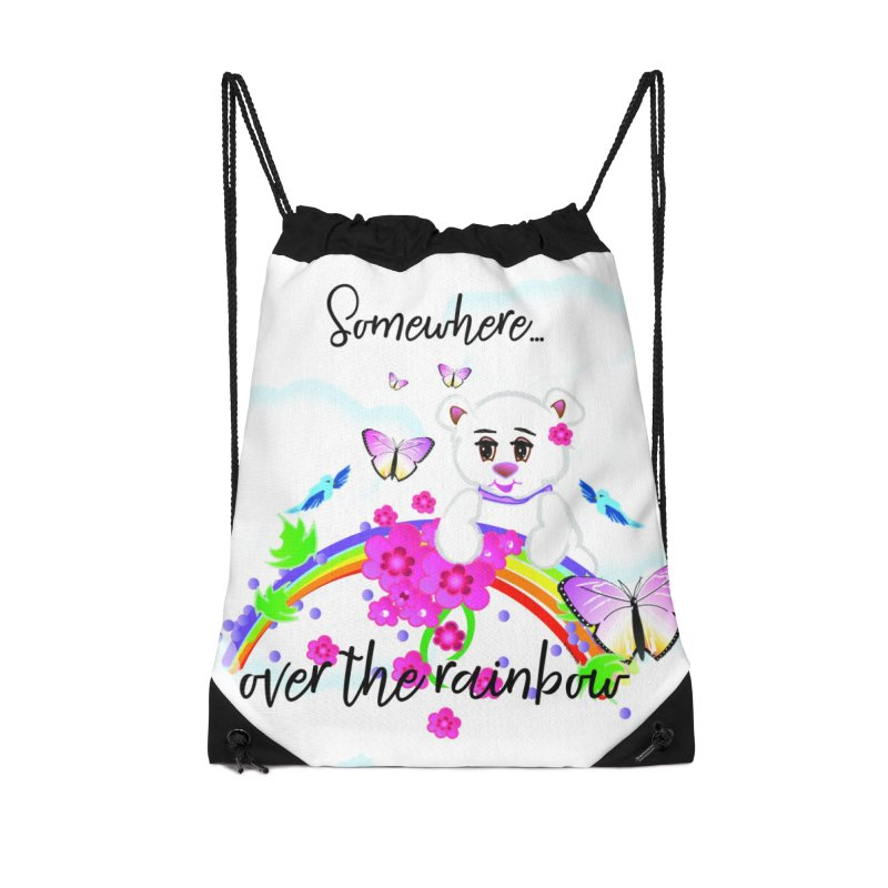 Over the Rainbow Accessories Drawstring Bag Bag by MyInspirationalGifts Artist Shop