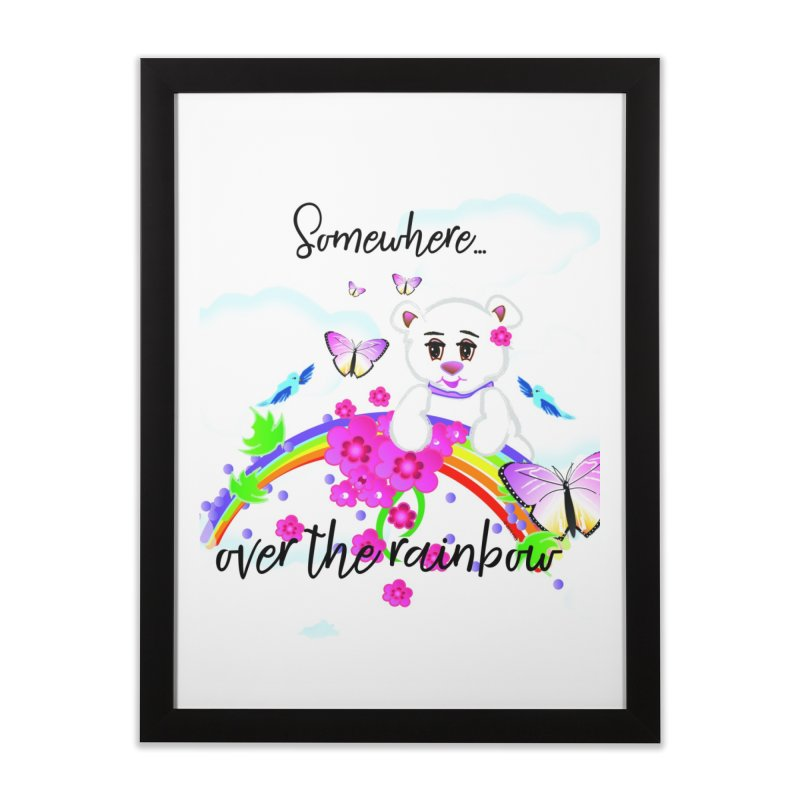 Over the Rainbow Home Framed Fine Art Print by MyInspirationalGifts Artist Shop