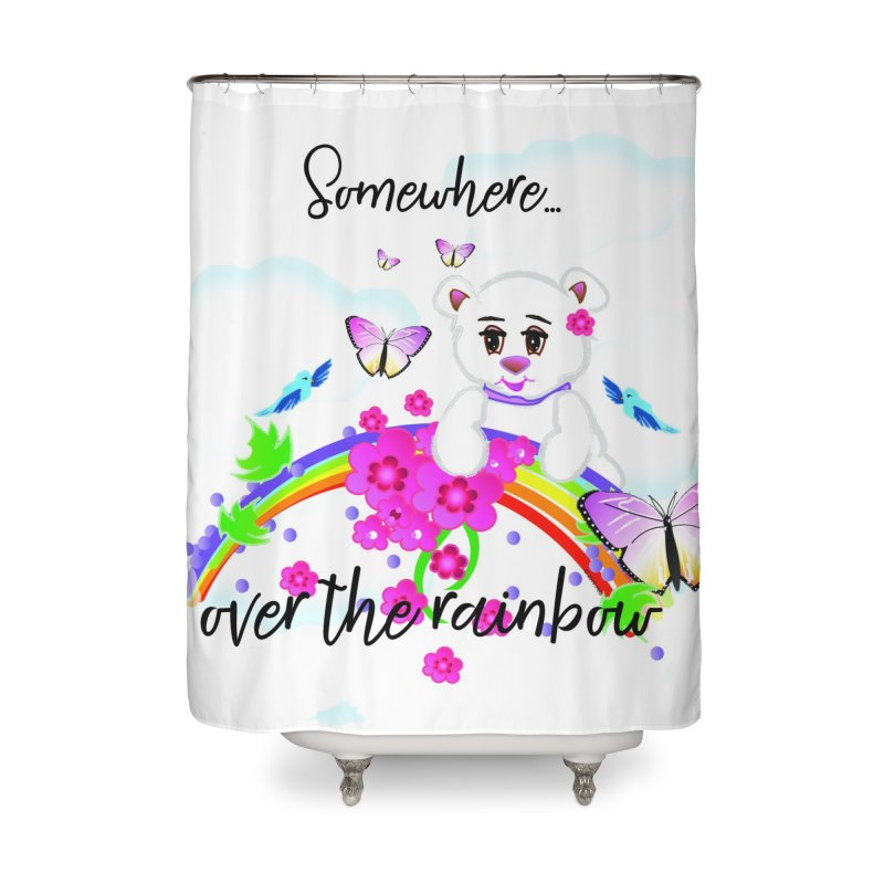 Over the Rainbow Home Shower Curtain by MyInspirationalGifts Artist Shop