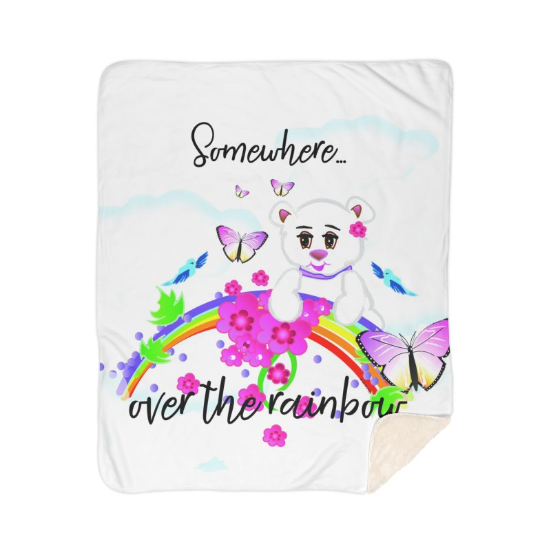 Over the Rainbow Home Sherpa Blanket Blanket by MyInspirationalGifts Artist Shop