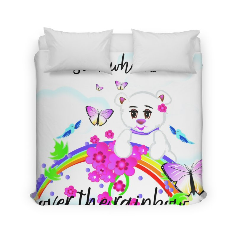 Over the Rainbow Home Duvet by MyInspirationalGifts Artist Shop