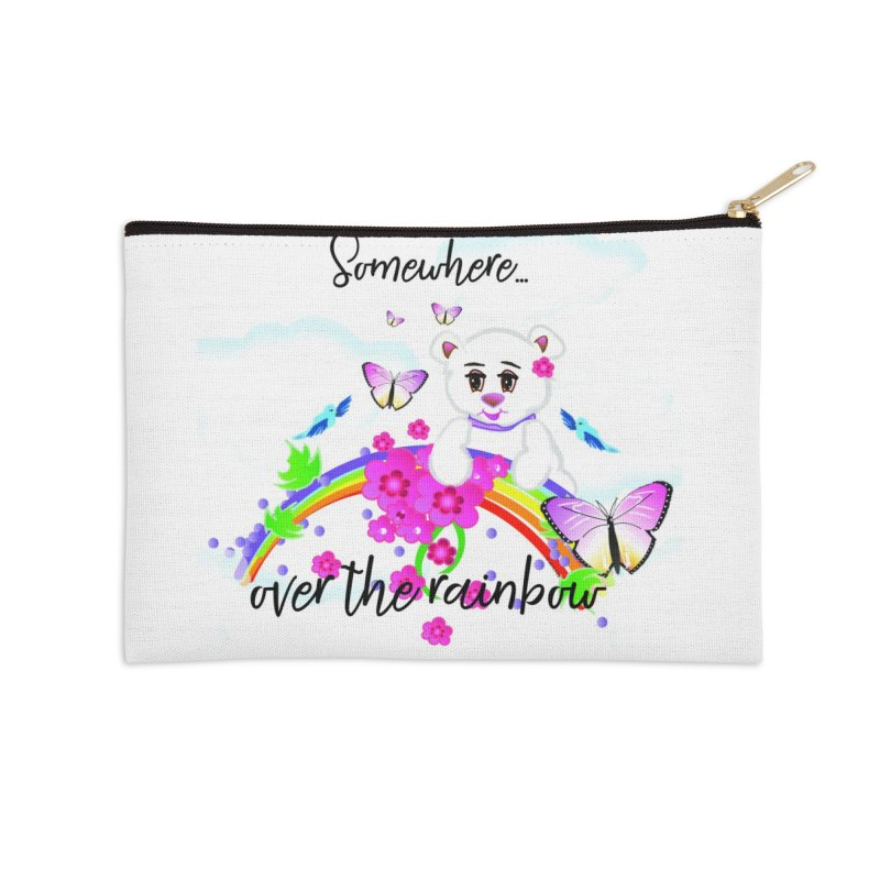Over the Rainbow Accessories Zip Pouch by MyInspirationalGifts Artist Shop