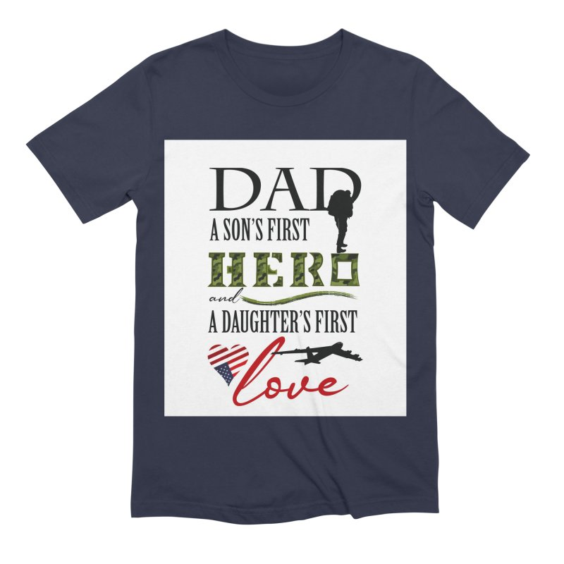 Hero Dad Men's Extra Soft T-Shirt by MyInspirationalGifts Artist Shop