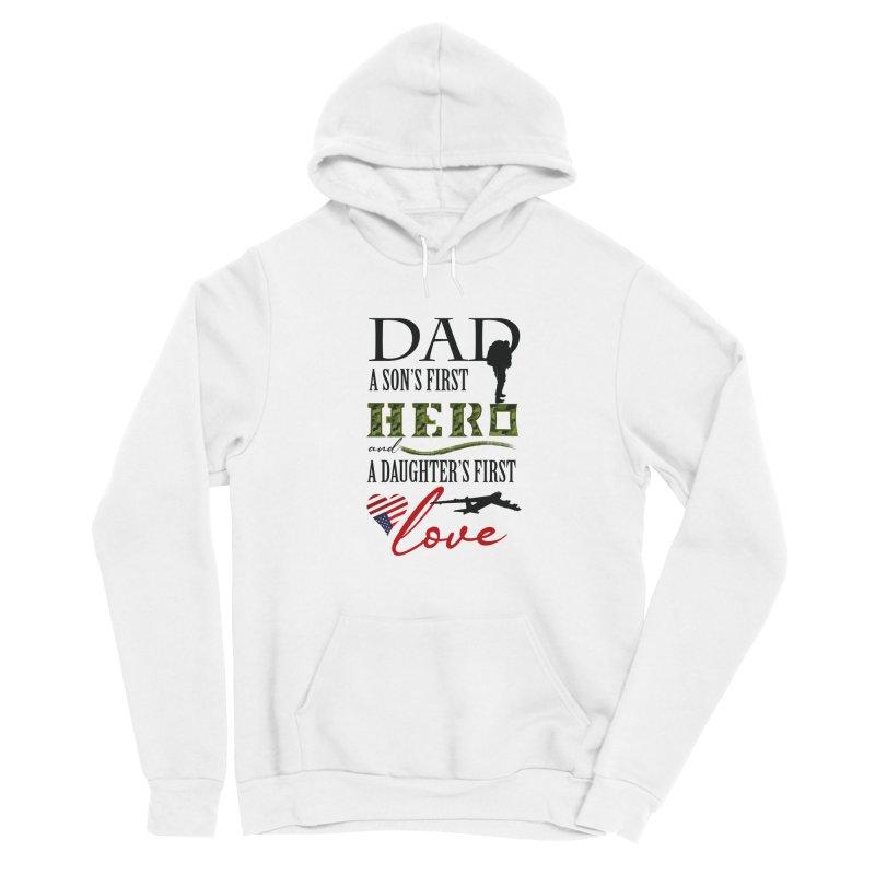 Hero Dad Men's Sponge Fleece Pullover Hoody by MyInspirationalGifts Artist Shop