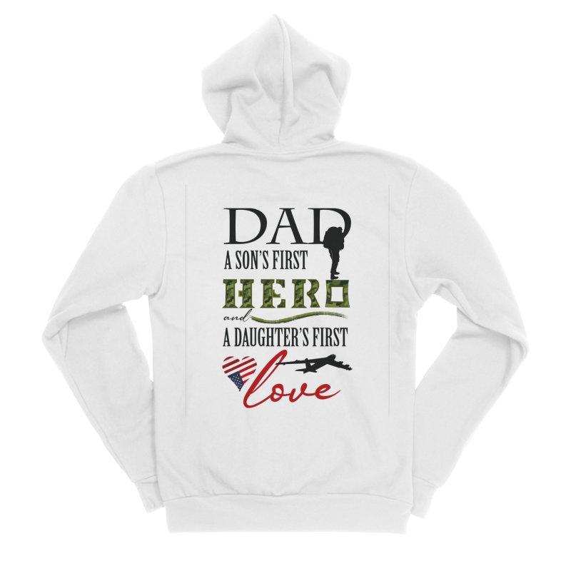 Hero Dad Men's Sponge Fleece Zip-Up Hoody by MyInspirationalGifts Artist Shop