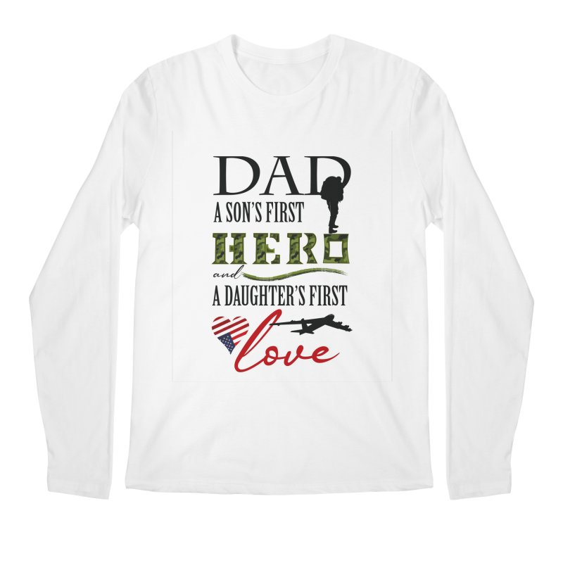 Hero Dad Men's Regular Longsleeve T-Shirt by MyInspirationalGifts Artist Shop