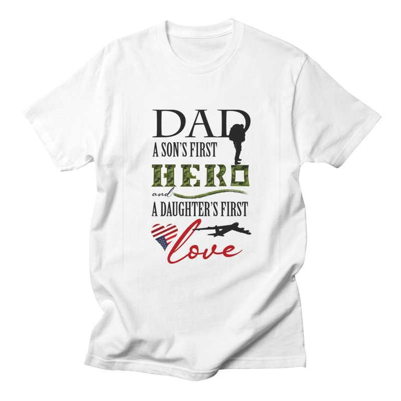 Hero Dad Men's Regular T-Shirt by MyInspirationalGifts Artist Shop