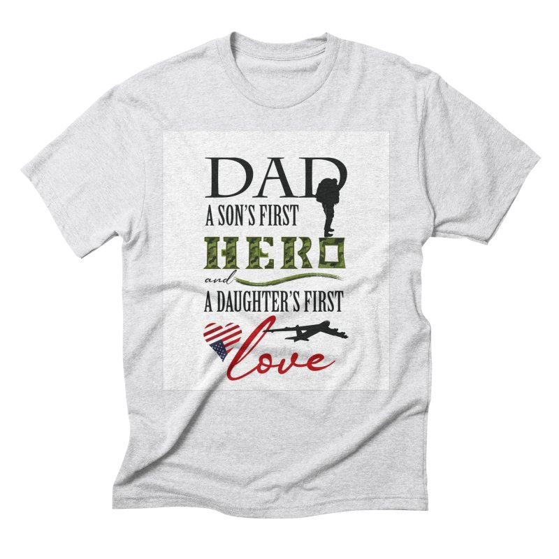 Hero Dad Men's Triblend T-Shirt by MyInspirationalGifts Artist Shop