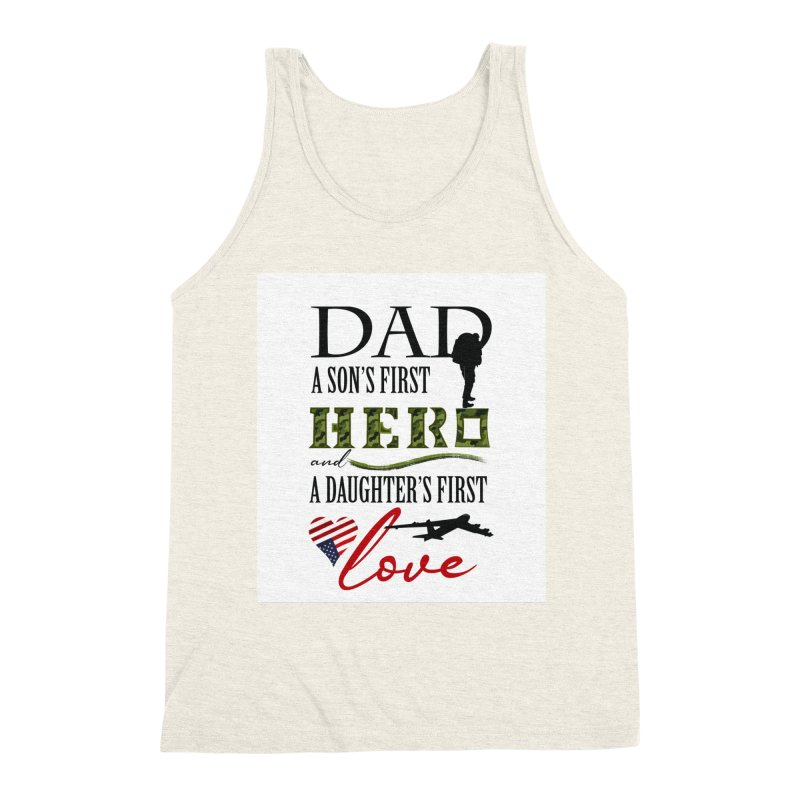Hero Dad Men's Triblend Tank by MyInspirationalGifts Artist Shop