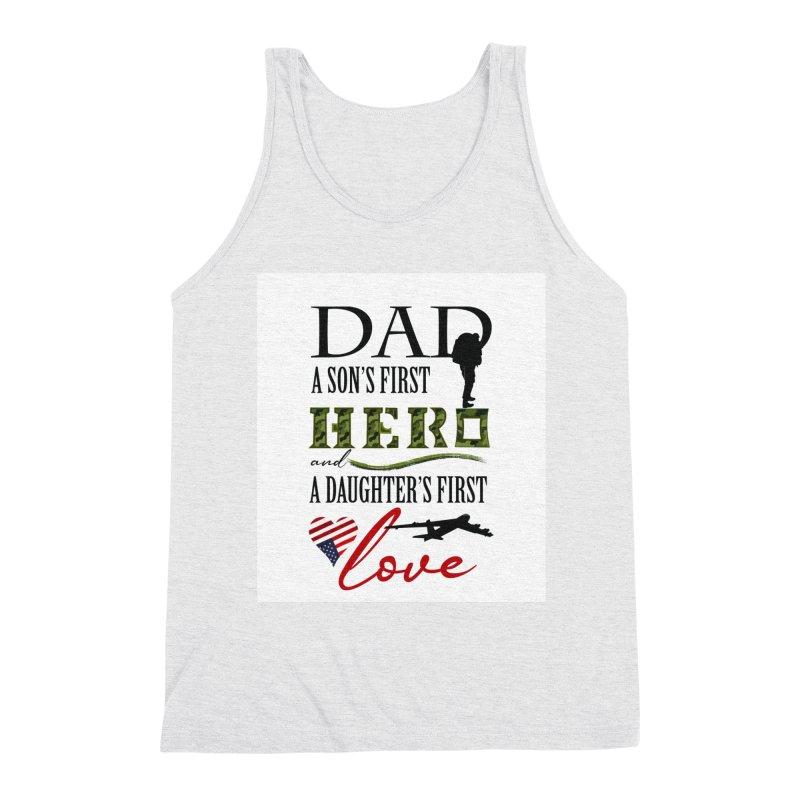 Hero Dad Men's Triblend Tank by MyInspirationalGifts Artist Shop