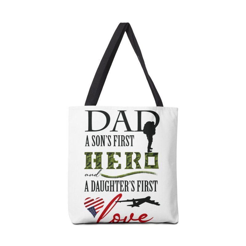 Hero Dad Accessories Tote Bag Bag by MyInspirationalGifts Artist Shop