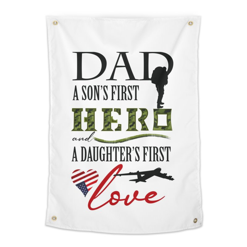 Hero Dad Home Tapestry by MyInspirationalGifts Artist Shop