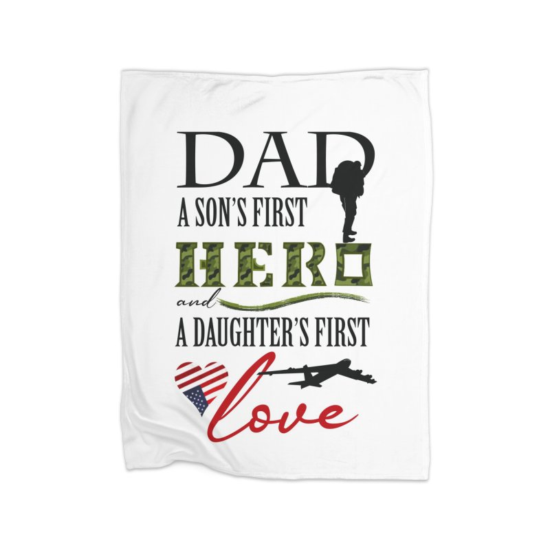 Hero Dad Home Fleece Blanket Blanket by MyInspirationalGifts Artist Shop