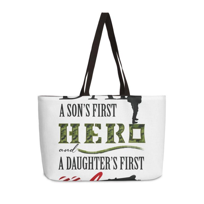 Hero Dad Accessories Weekender Bag Bag by MyInspirationalGifts Artist Shop