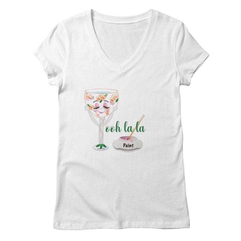 Ooh la la Women's Regular V-Neck by MyInspirationalGifts Artist Shop