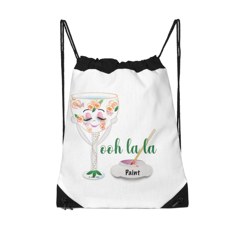 Ooh la la Accessories Drawstring Bag Bag by MyInspirationalGifts Artist Shop