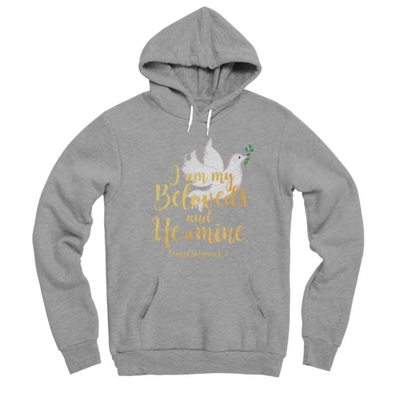 I Am My Beloved's Women's Sponge Fleece Pullover Hoody by MyInspirationalGifts Artist Shop