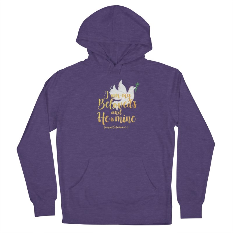 I Am My Beloved's Women's French Terry Pullover Hoody by MyInspirationalGifts Artist Shop