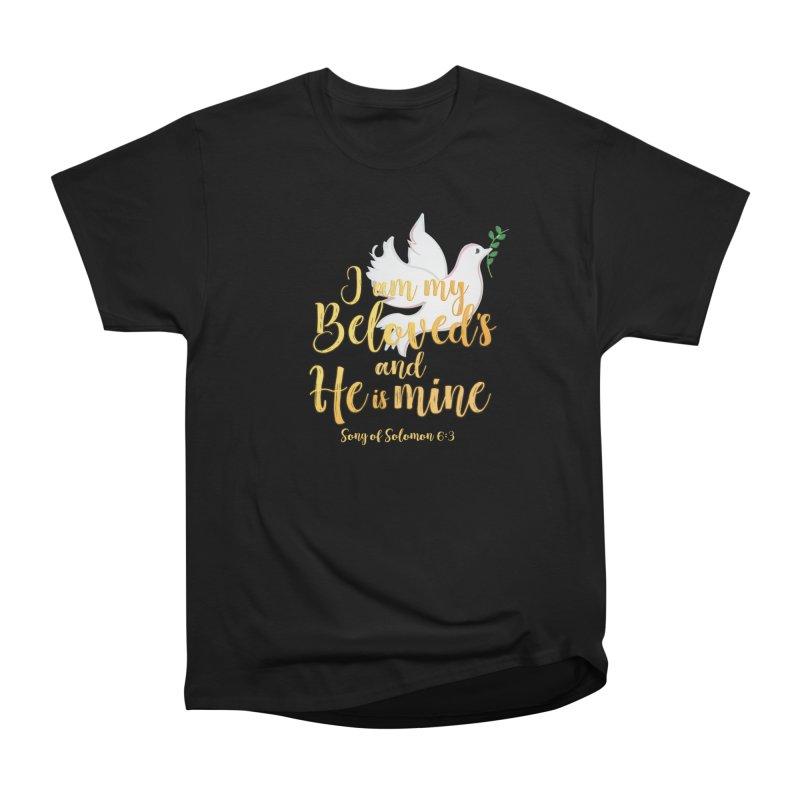 I Am My Beloved's Women's Heavyweight Unisex T-Shirt by MyInspirationalGifts Artist Shop