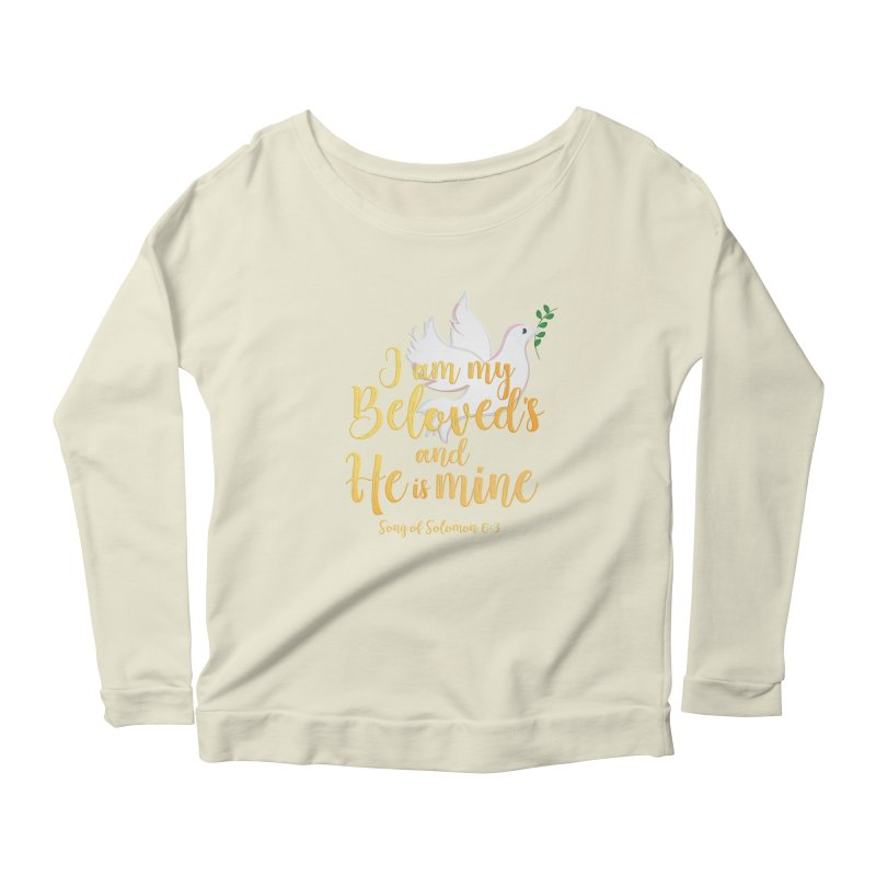 I Am My Beloved's Women's Scoop Neck Longsleeve T-Shirt by MyInspirationalGifts Artist Shop