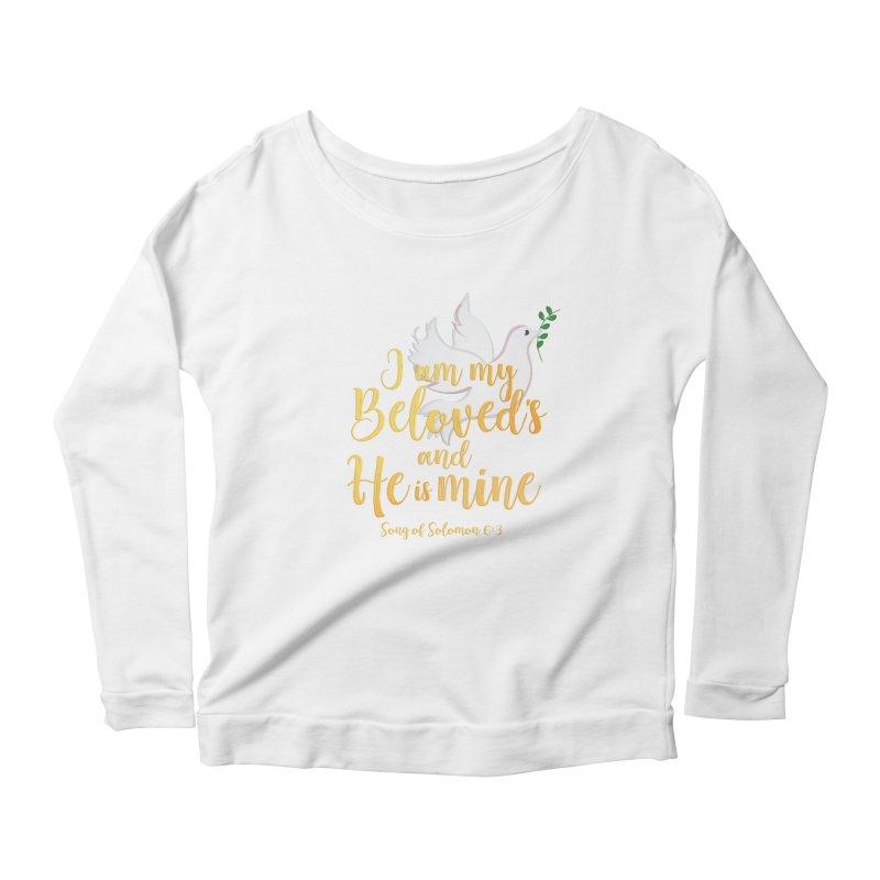 I Am My Beloved's Women's Scoop Neck Longsleeve T-Shirt by MyInspirationalGifts Artist Shop