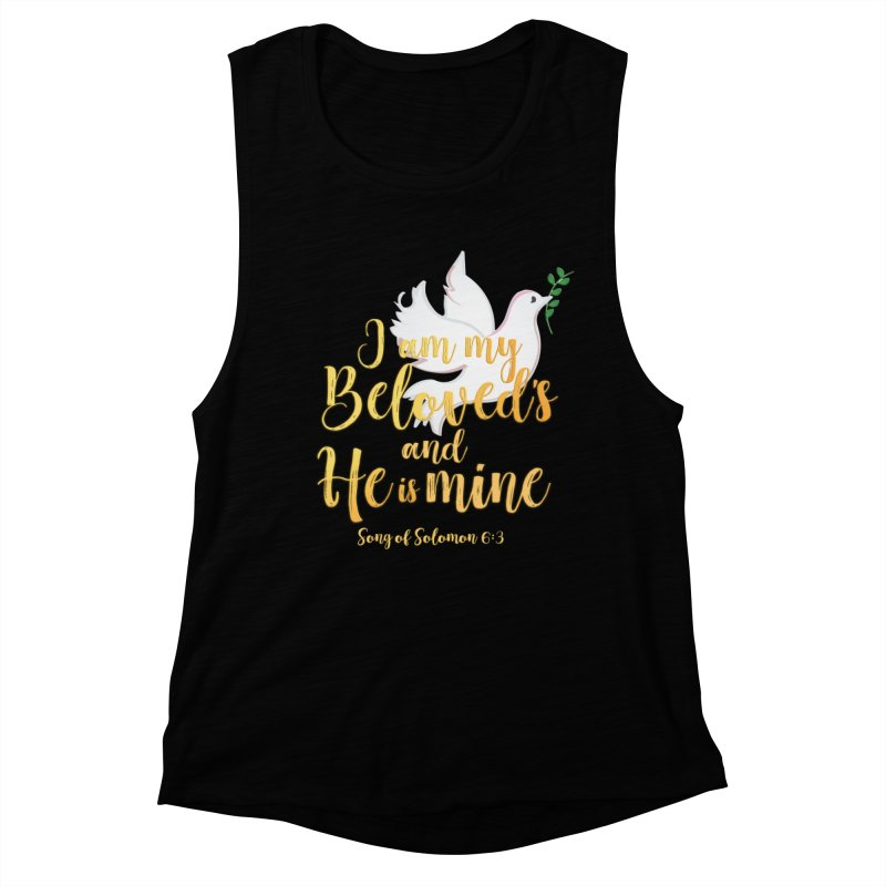 I Am My Beloved's Women's Muscle Tank by MyInspirationalGifts Artist Shop
