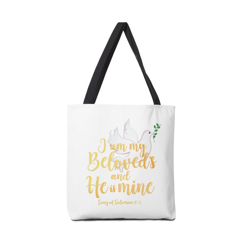 I Am My Beloved's Accessories Tote Bag Bag by MyInspirationalGifts Artist Shop