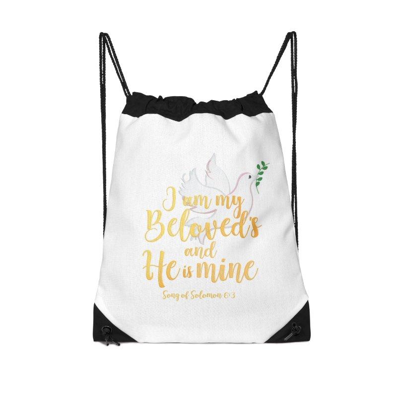 I Am My Beloved's Accessories Drawstring Bag Bag by MyInspirationalGifts Artist Shop