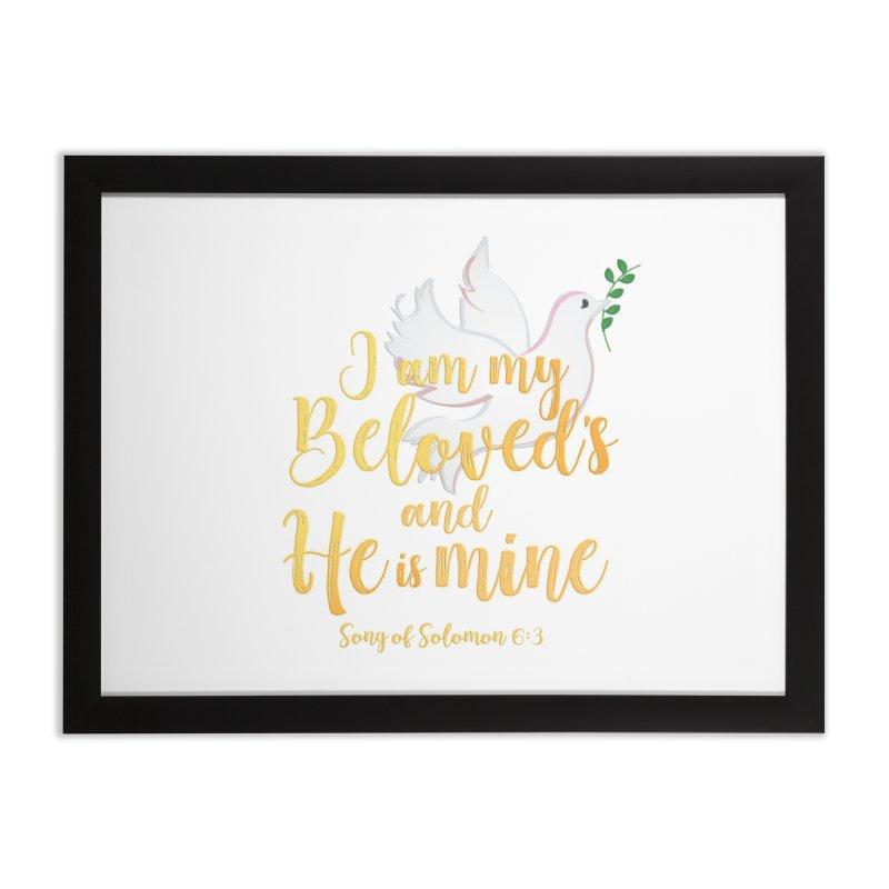 I Am My Beloved's Home Framed Fine Art Print by MyInspirationalGifts Artist Shop