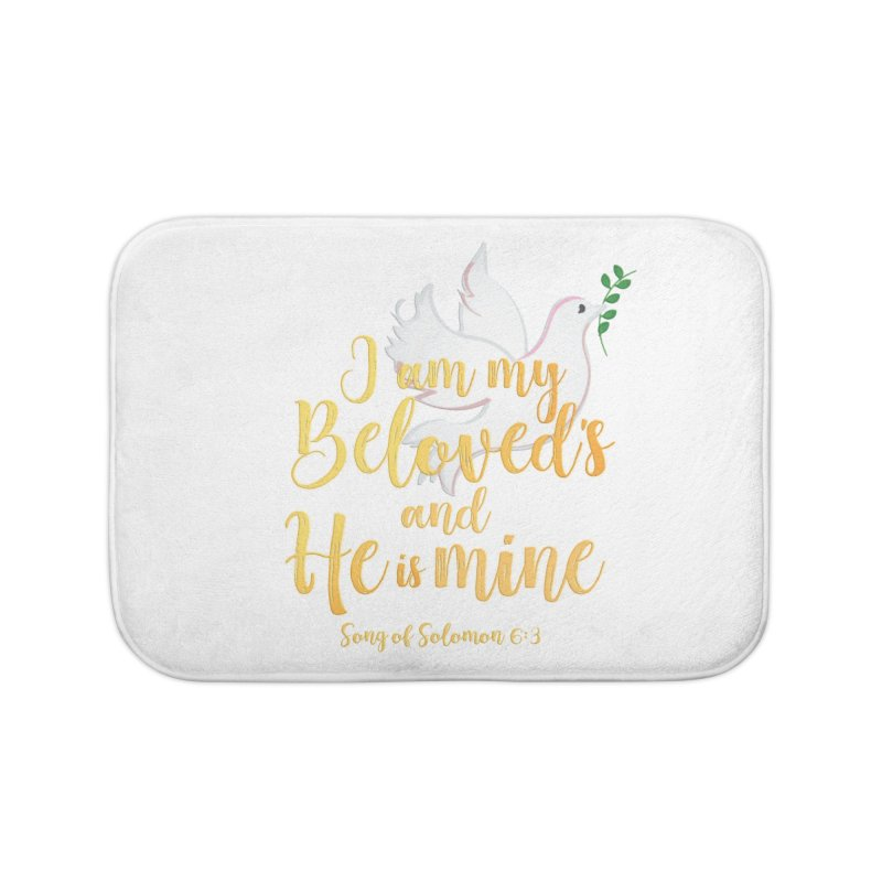 I Am My Beloved's Home Bath Mat by MyInspirationalGifts Artist Shop