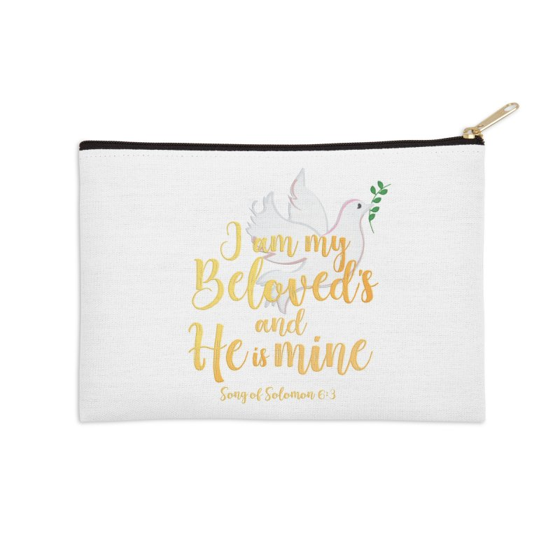 I Am My Beloved's Accessories Zip Pouch by MyInspirationalGifts Artist Shop