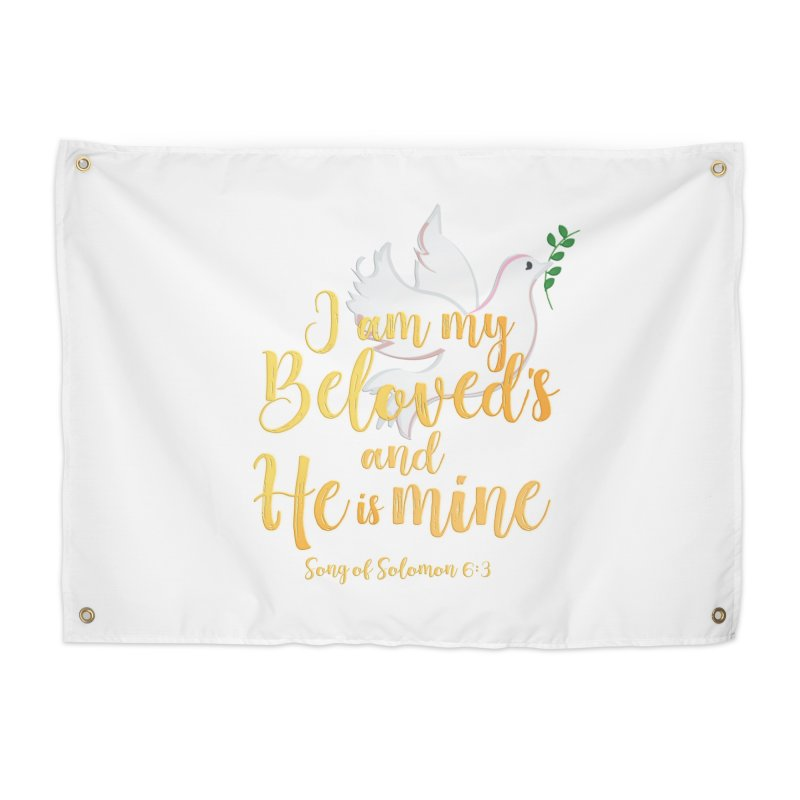 I Am My Beloved's Home Tapestry by MyInspirationalGifts Artist Shop
