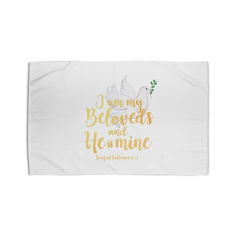 I Am My Beloved's Home Rug by MyInspirationalGifts Artist Shop