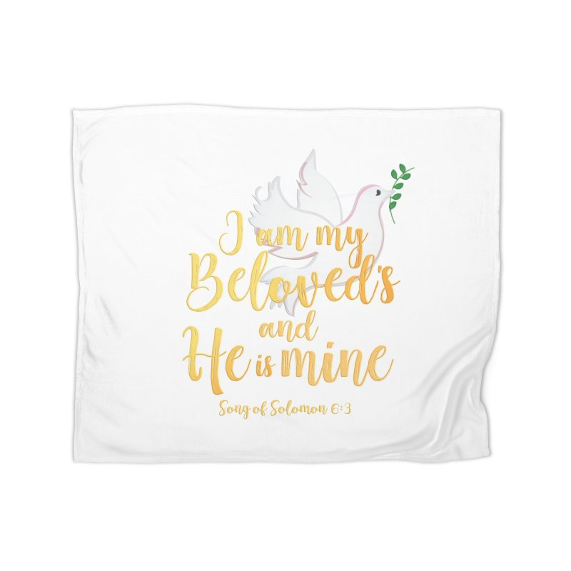 I Am My Beloved's Home Fleece Blanket Blanket by MyInspirationalGifts Artist Shop