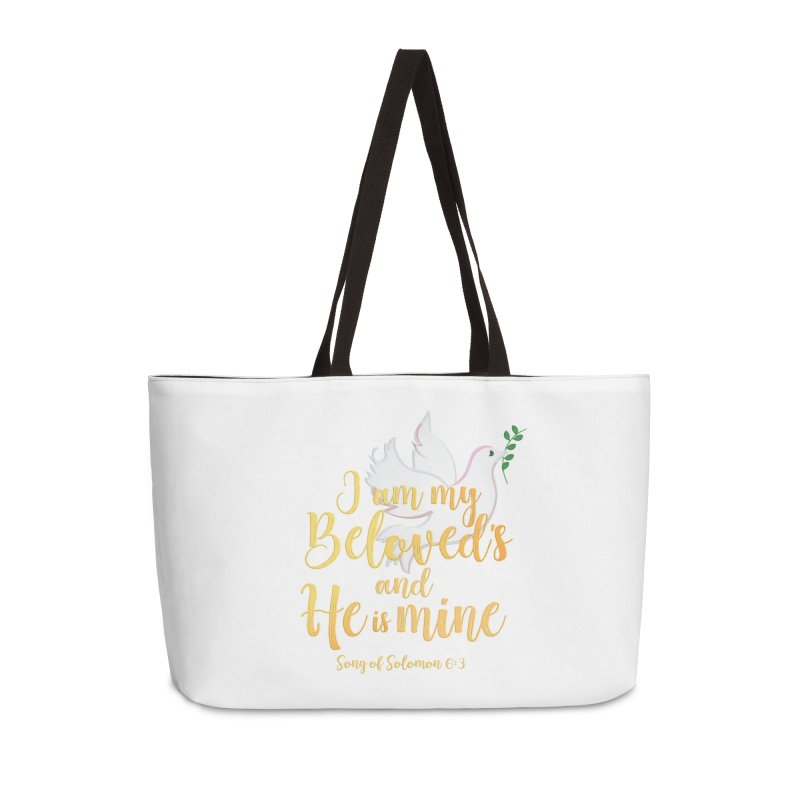 I Am My Beloved's Accessories Weekender Bag Bag by MyInspirationalGifts Artist Shop