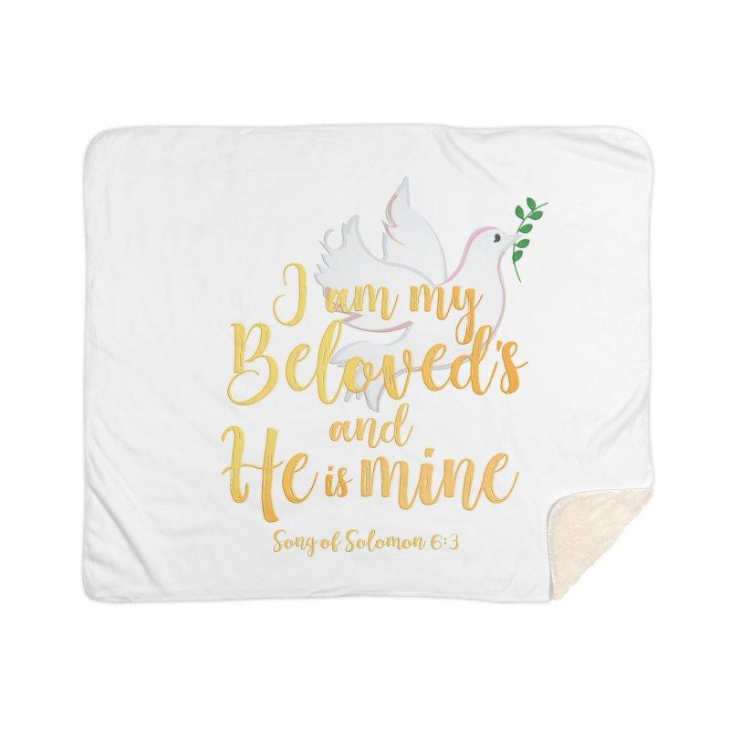 I Am My Beloved's Home Sherpa Blanket Blanket by MyInspirationalGifts Artist Shop