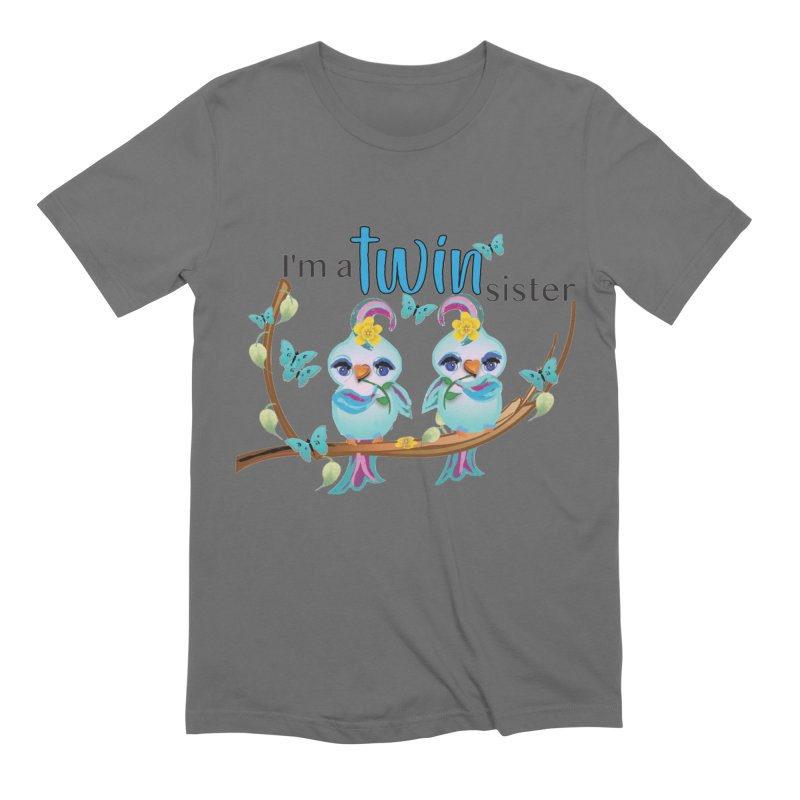 I'm a TWIN sister Men's T-Shirt by MyInspirationalGifts Artist Shop