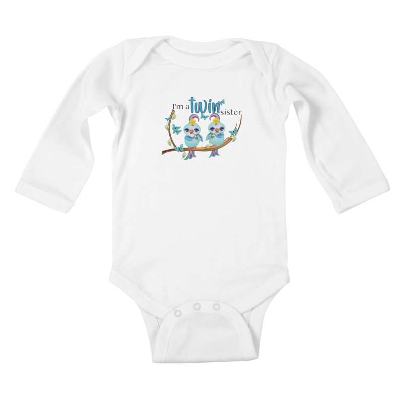 I'm a TWIN sister Kids Baby Longsleeve Bodysuit by MyInspirationalGifts Artist Shop